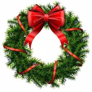 Christmas Wreath Border Clipart Kid
