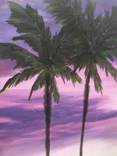 Palms Laura Cherry March 2020 Painting