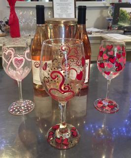 Valentine Wine Glass Painting 2